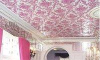 Оклейка потолка обоями (фото 3)